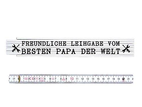 Preisvergleich Produktbild ZOLLSTOCK Metermaß Maßstab FREUNDLICHE LEIHGABE VOM BESTEN PAPA Spruch Geschenk