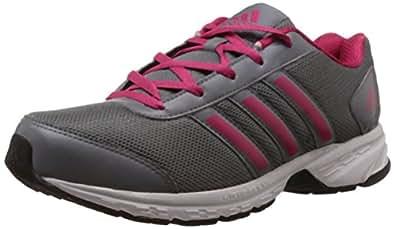adidas Women's Adisonic W Grey and Bright Pink Mesh Running Shoes - 4 UK