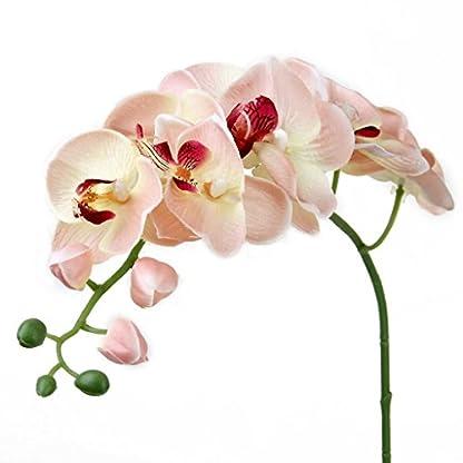 NiceButy – Orquídea mariposa, flor artificial – Planta para decoración del hogar.