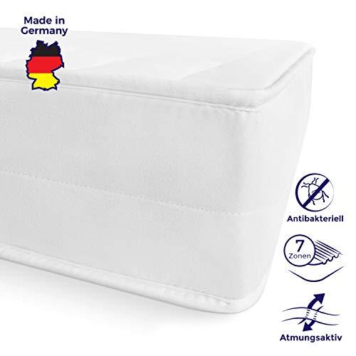 Mister Sandman schadstofffreie 7-Zonen-Matratze für gesunden Schlaf - Kaltschaummatratze mit Liegezonen und pflegeleichtem Matratzenbezug, H2&H3, Höhe 15cm H3 - Premium Doppeltuchbezug 180x200 cm