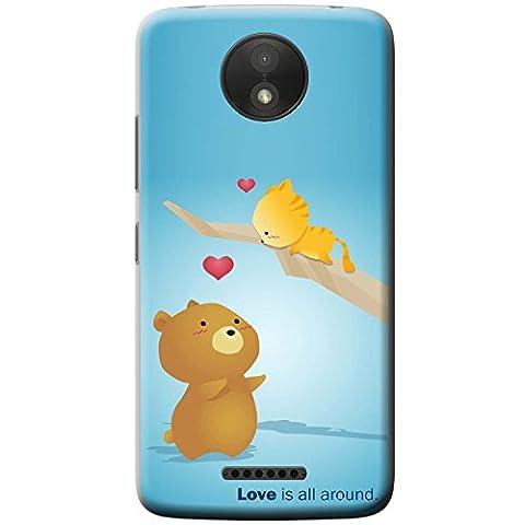 Bär wartet darauf Kätzchen in Baum zu fangen Hartschalenhülle Telefonhülle zum Aufstecken für Motorola Moto C