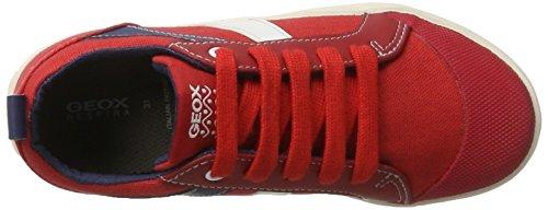 Geox Jr Kiwi N, Scarpe da Ginnastica Basse Bambino Rosso (Red/dk Bluec7v4m)