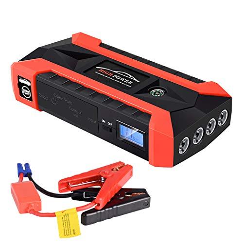 Auto Starthilfe Pack Booster Ladegerät Batterieleistung Bank 89800mAh 12V LCD 4 USB Starthilfe Powerbank -Spitze Starthilfe, Auto Starthilfe Jump Starter mit Kompas, LCD Bildschirm (Mehrfarbig) -