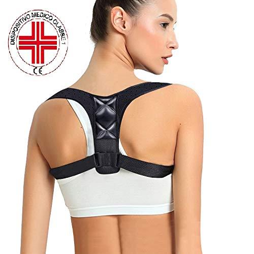 Correttore di postura schiena supporto,traspirante regolabile posturale correzione per uomo e donna,tutore supporti per schiena, collo e spalle sollievo dal dolore