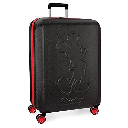 Trolley Topolino Mickey Disney Colored da Viaggio CM. 68x48x27 Rosso in ABS - 3428861