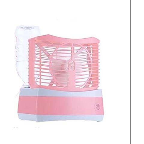 Mini ventilatore elettrico umidificatore, hlhome Ufficio Desktop umidificazione Small Ventola Household Spray acqua piccola