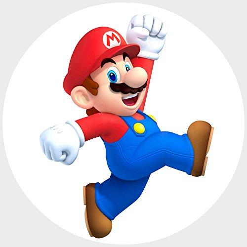 Preisvergleich Produktbild 9 Stück Muffinaufleger Muffinfoto Aufleger Foto Bild Nintendo Super Mario 14 rund ca. 6 cm *NEU*OVP*