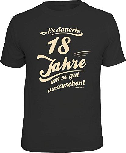 Das Geschenk T-Shirt zum 18. Geburtstag - Endlich volljährig, Dauerte, M