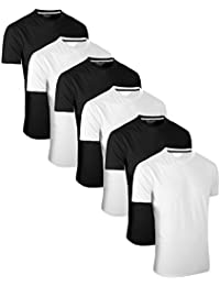Full Time Sports® Tech 3 4 6 Pack Assorted Langarm-, Kurzarm Casual Top Multi Pack Rundhals T-Shirts