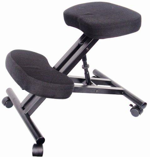 Spetedo - sedia ergonomica per computer, con poggia-ginocchia, rotelle, rivestimento in tessuto imbottito, altamente regolabile