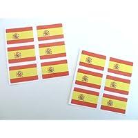 Mini Pack De Pegatinas , 33x20mm Rectangulares , autoadhesivo España Etiquetas , Bandera Española Adhesivos