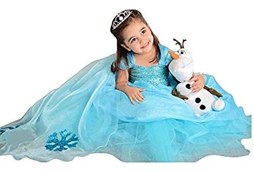 erte Elsa Gefroren Schnitte 110 3-4 Jahre Mit Riemen KöNigin Kleid MäDchenkleid Pailletten Schnee Hinter (Benutzerdefinierte Kleid Für Halloween)
