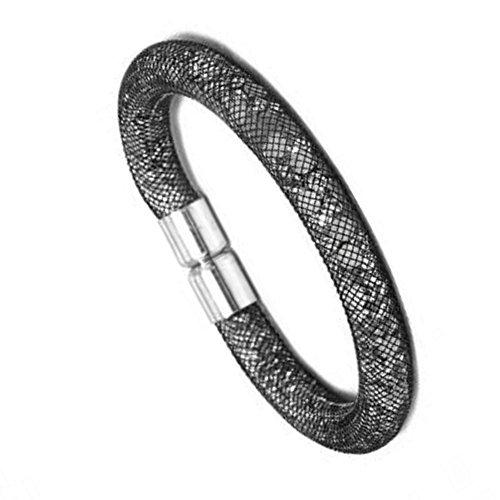 Bracelet Cordon résille remplie de Strass - Couleur au Choix Gris