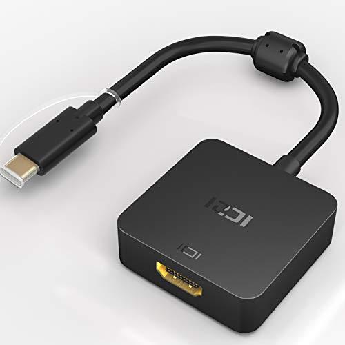 ICZI USB C (Compatible Thunderbolt 3 Ports) vers HDMI avec Adaptateur d'alimentation 4K pour Les Nouveaux Macbook, MacBook Pro, Huawei Matebook, ChromeBook Pixel 2015 et Plus