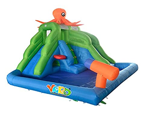 Yard Inflatable Water Park Bouncer Octopus Pool Bounce Slide 13x11x9ft