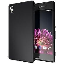 Sony Xperia Z3 Plus Funda Carcasa de NALIA, Protectora Movil TPU Silicona Ultra-Fina Gel Telefono Case Cubierta Estuche Goma Bumper, Cobertura Delgado Cover para Smart-phone - Mate Negro