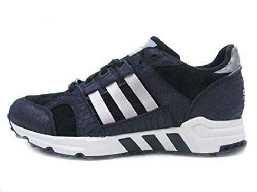 adidas EQT Running Kissen 93, Schwarz (Black/Metalic Silver), 46 EU D(M)