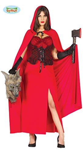 Cappuccetto Rosso Kostüm - Rotkäppchen Halloween Kostüm für Damen, Größe:M