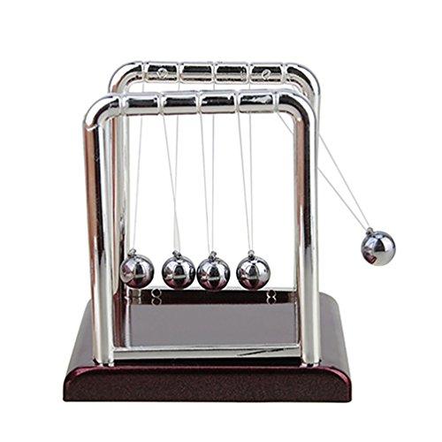 Amesii Wiege Stahl Balance Ball Physik Wissenschaft Spaß Pendel-Schreibtisch Tisch Decor Spielzeug Geschenk–S s S
