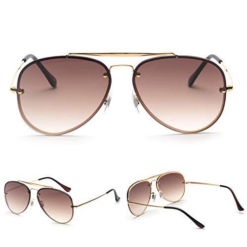 SNXIHES Sonnenbrillen Rote Sonnenbrille Männer Sommer Hochwertige Metallrahmen Flat Top Hlasses Sonne Männlich Weiblich Unisex Uv400 5