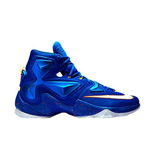 Nike Lebron Xiii, Scarpe da Basket Uomo, Talla Multicolore (Azul / Blanco / Naranja (Soar / White-Lsr Orange-Ttl Orng))