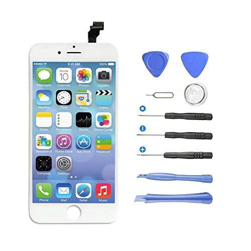yokimico display lcd schermo per iphone 6 touch screen digitizer parti di ricambio da sostituire screen con kit di utensili gratuiti bianco