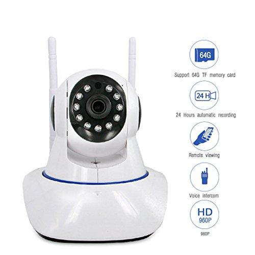 Pinkbenmus 960P ÜBerwachungskamera Mit Alarm-ÜBerwachungskamera FüR Innen NetzwerküBerwachung Mobile Erkennung ÜBerwachungskamera Nacht Remote Viewing Alarm-Stimme Eingabeaufforderung Panasonic Mini-phone