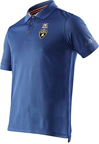 X-BIONIC for AUTOMOBILI LAMBORGHINI Herren Tech Style Pro Man OW Short Sleeves Polo Shirt, Navy, M (Automobil-shirts Für Männer)
