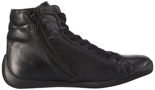 Softinos NITA323SOF Smooth, Baskets Basses Femme Noir - Noir