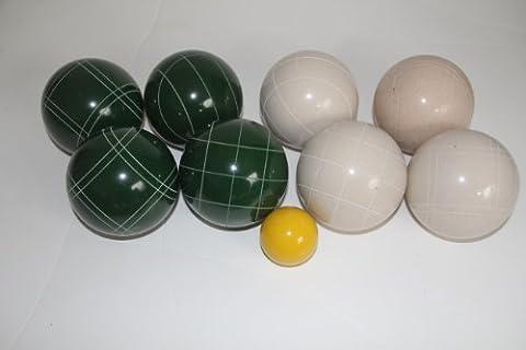 Premium Quality EPCO Tournament Bocce Set - 107mm White and Green Bocce Balls...