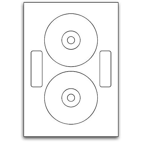 Multi Purpose White Permanent 118mm Neato Compatible Cd/Dvd Labels - 100 Sheets 118mm x Diameter