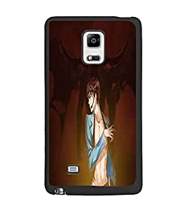 PrintDhaba Girl image D-4434 Back Case Cover for SAMSUNG GALAXY NOTE 4 EDGE (Multi-Coloured)