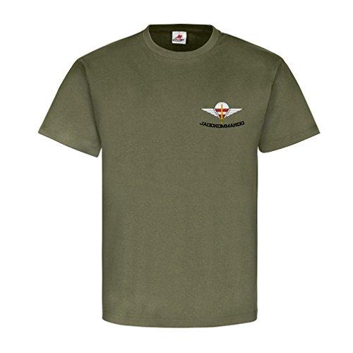 Jagdkommando Brust Logo JaKdo Bundesheer Österreich Austria Spezialeinheit Wiener Neustadt Reservist Veteran T-Shirt #18833, Größe:XL, Farbe:Oliv