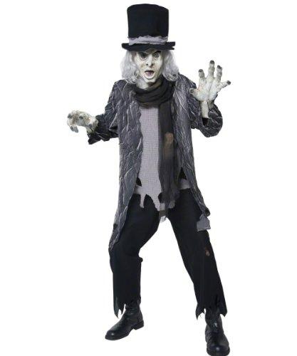 Totengräber Kostüm - Smiffys Grabskostüm, Dämonen-Design, Größe M