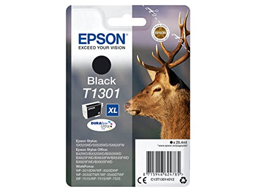 Preisvergleich Produktbild Epson original - Epson WorkForce WF-7525 (T1301 / C13T13014012) - Tintenpatrone schwarz - 945 Seiten - 25,4ml