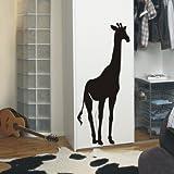 Indigos WG30040-70 Wandtattoo w040 Giraffe Afrika Tier Dschungel Wüste Wandaufkleber 120 x 51, Schwarz