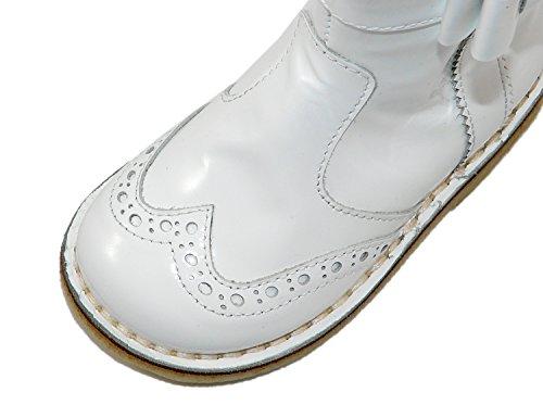 Zecchino d'oro 06–670 a, bottes fille/femme avec noeud et motif budapest Blanc - Weiß (266)
