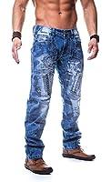 Kosmo Lupo Herren Jeans Denim Hose Japan Style Vintage Clubwear Chino Used Blau