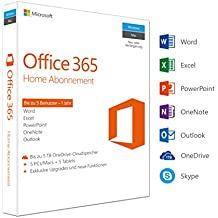 Microsoft Office 365 Home 5PCs/MACs - 1 Jahresabonnement - multilingual (Product Key Card ohne Datenträger)