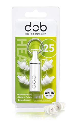 dOb Reusable White series 25 dB - Gehörschutz für Motorrad