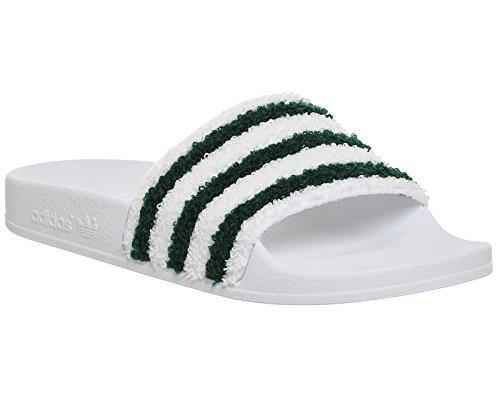 adidas Adilette, Scarpe da Spiaggia e Piscina Uomo Bianco