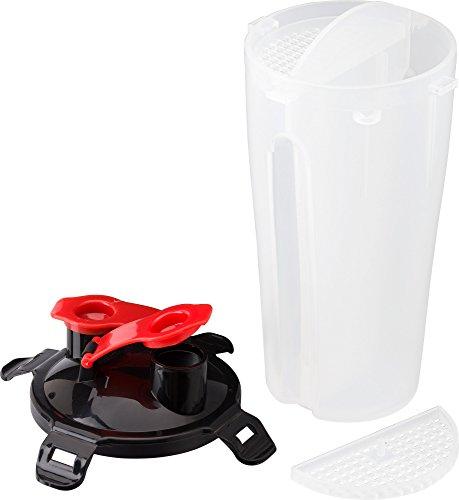 Proteinshaker Eiweiß Shaker mit 2 Kammern für 2 Rationen