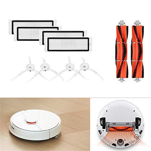 Gaddrt Bürstenfilter Seitenbürsten Zubehör für XIAOMI Robot Vacuum Home Appliance Ersatz-waschbare Filter für Xiaomi Mi (B)
