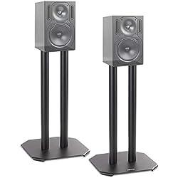 Duronic SPS1022 /40 Paire de Pieds d'Enceintes - 40 cm de Hauteur - Lestable avec du Sable - Cônes pour réduire Vibrations - Compatibilité Universelle Haut-parleurs Hi-FI/Stéréo/Home Cinema 5.1