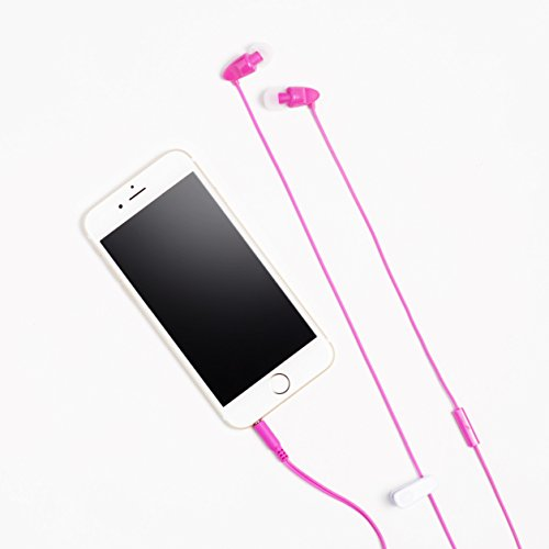 AmazonBasics-In-Ear-Headphones-with-universal-mic-Pink