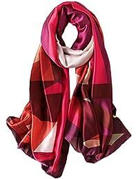 1880c717d9c6 5 ALL Echarpe Femme Anti uv Coloré En Tulle Géométrie Couleurs Mélangées Impression  Foulard Tourisme Femme Echarpe Longue de…