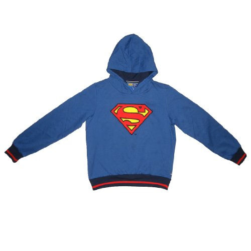 LIMITED EDITION: DC COMICS JUSTICE LEAGUE Jungen Superman Pullover Hoodie Jacke (Größe: 12)