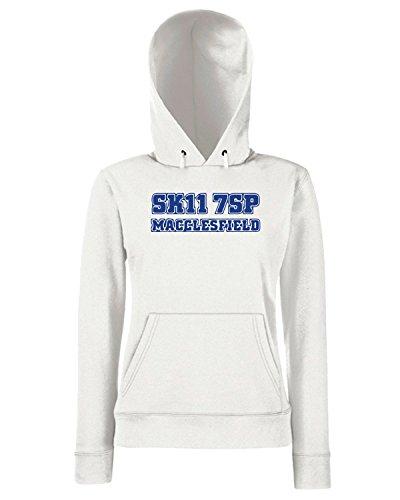 T-Shirtshock - Sweats a capuche Femme WC1049 macclesfield-postcode-tshirt design Blanc