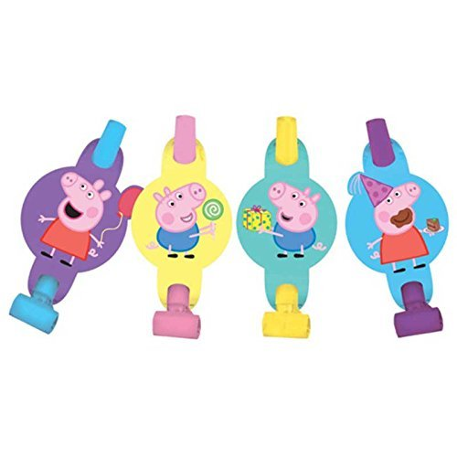 PARTY PROPZ PEPPA PIG BLOWOUTS 12 PC