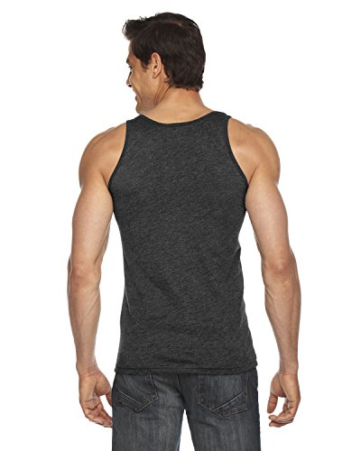 American Apparel ltext poly-cotton Tank Heather Black